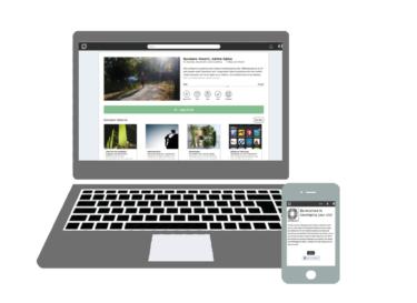 The innovation platform Develop Your City (Utveckla Din Stad) on desktop and mobile.
