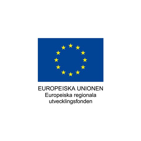 Logga, Europeiska unionen, Europeiska regionala utvecklingsfonden (ERUF).
